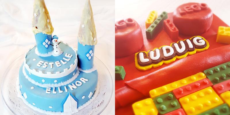 Castle cake Lego cake - slottstårta och legotårta