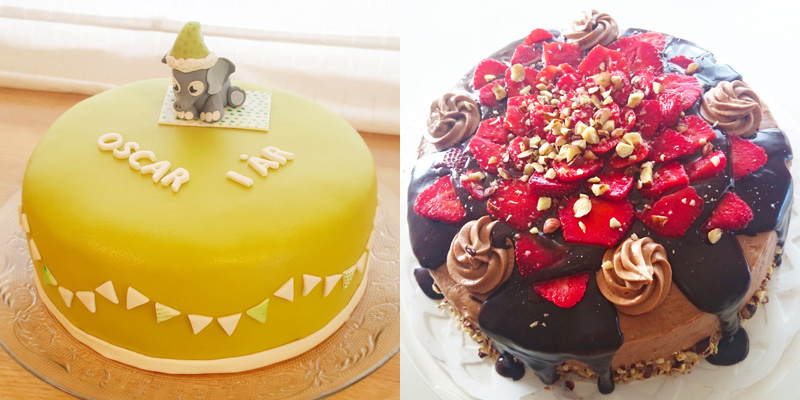 Oscars cake strawberry cake - oscars tårta och jordgubbstårta