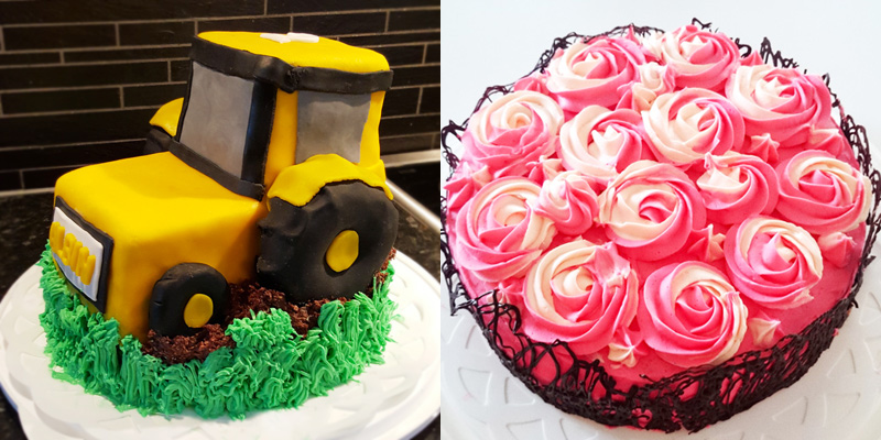 Traktortårta rostårta