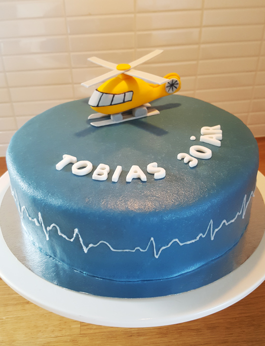 Helicopter cake - helikoptertårta