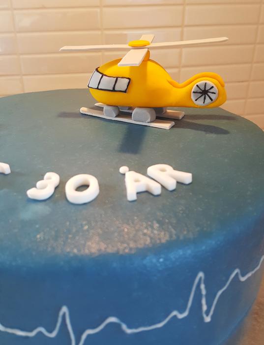 Helikoptertårtan - helicopter cake
