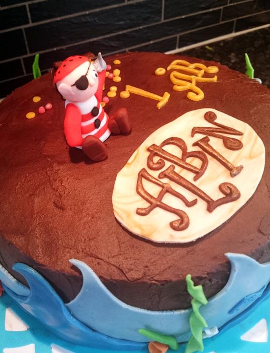 Pirate cake - pirattårtan