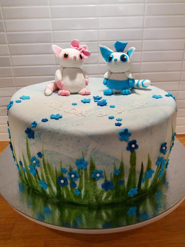 Yoohoo cake with flowers - yoohootårta med blommor