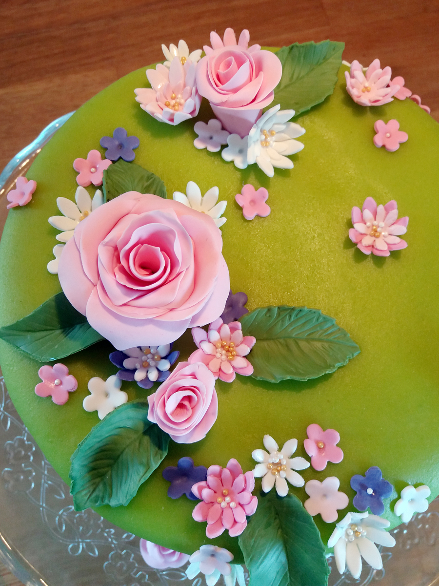 Summer flowers cake - sommarblomstertårta
