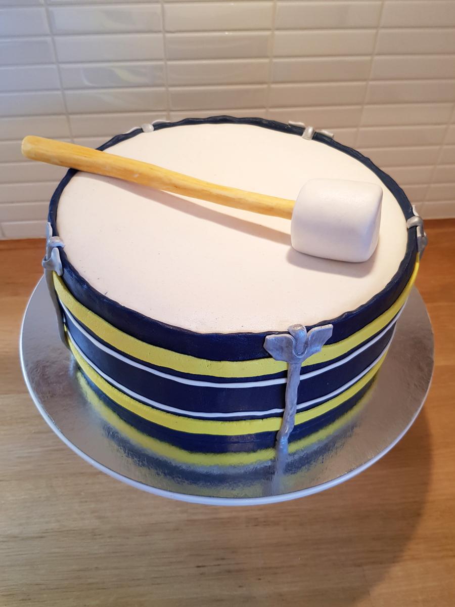Drum cake - trumtårta
