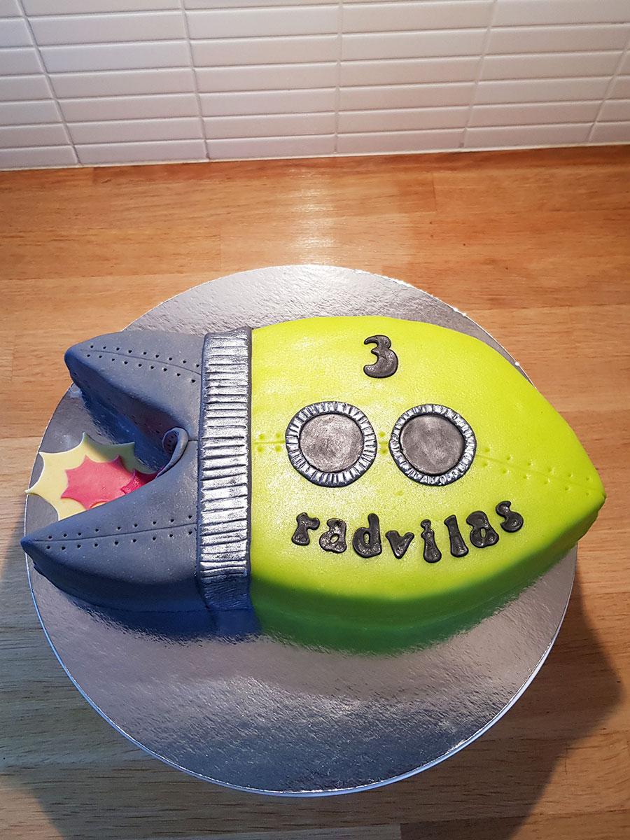 Rocket cake - rakettårta