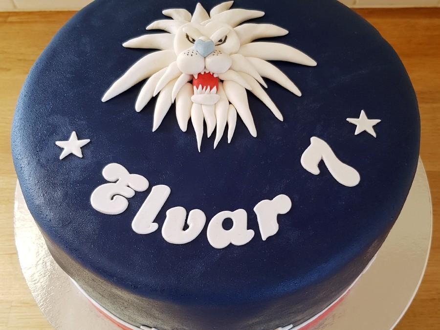Tårta med LHC-lejonet