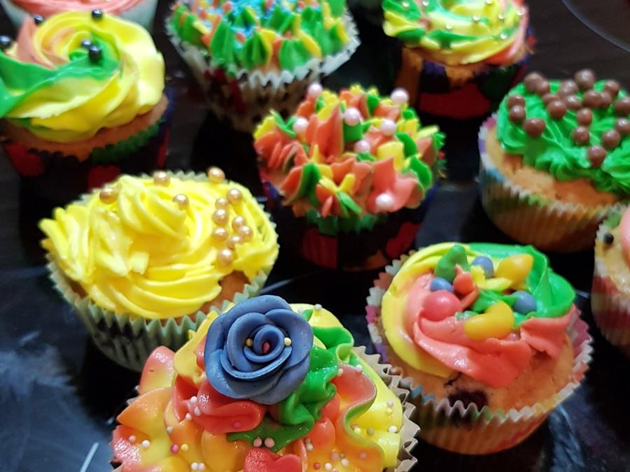 Cupcakes med dotterns kusiner